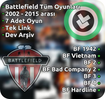 Battlefield Oyun Arşivi Tek Link (2002 - 2015)