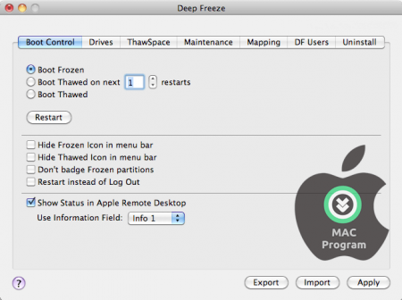 Deep Freeze for MAC v5.91.220 Full indir