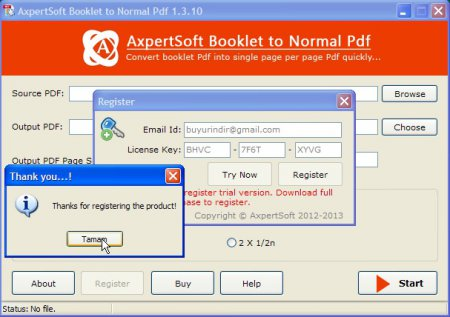 AxpertSoft Booklet to Normal PDF v1.3.10 Full