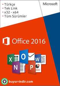 Microsoft Office 2016 (x32 - x64) Orjinal Full indir