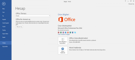 Microsoft Office 2016 Professional / Standart Full indir