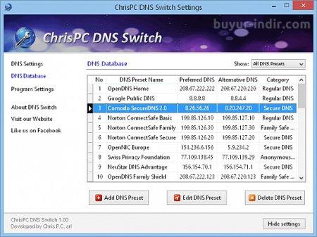 ChrisPC DNS Switch v3.10 indir