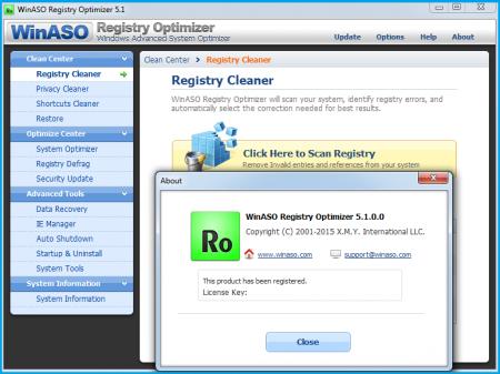 WinASO Registry Optimizer v5.1.0.0 Katılımsız