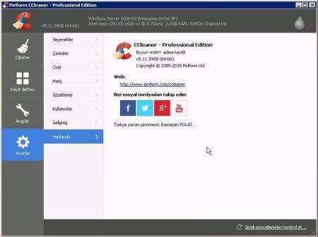 CCleaner Professional v5.11 Türkçe (Katılımsız)