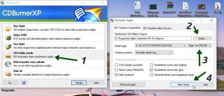 CDBurnerXP v4.5.7.6229 Türkçe Katılımsız