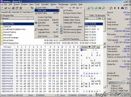 WinHex v18.6 Full indir