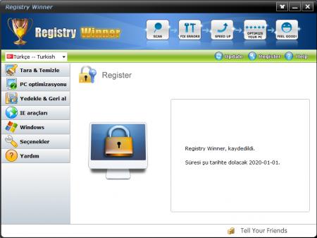 Registry Winner v6.9.11.6 Türkçe Katılımsız