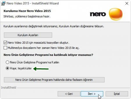 Nero Video 2015 Resimli Program Kurulumu