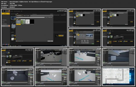 Unreal Engine 4 Eğitimi Türkçe - 5 Adet Ders