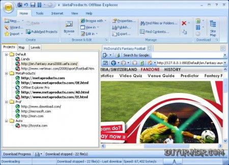 MetaProducts Offline Explorer v7.4.4559 Türkçe