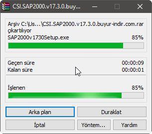 CSI Sap2000 v17.3.0 - Resimli Kurulumu