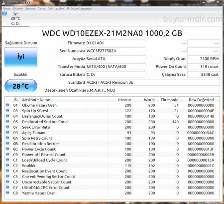 CrystalDiskInfo v7.0.0 Türkçe