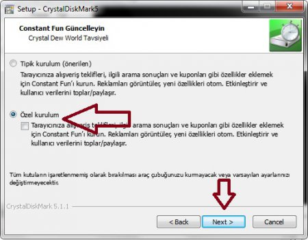 CrystalDiskMark v5.1.1 Türkçe