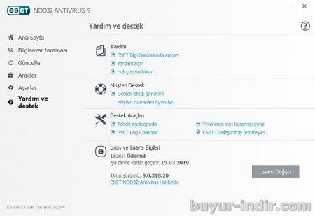 Eset Antivirüs v9.0.375.1 Türkçe