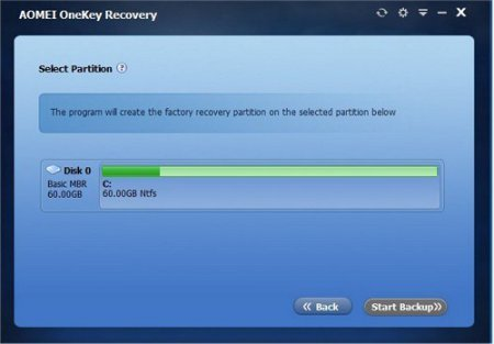 AOMEI OneKey Recovery v1.5.0.0