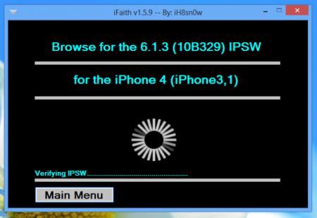 iOS 7 Downgrade iOS 6.X.X iPhone 4 (A4)