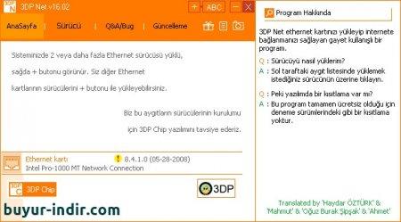 3DP Net v16.02 Türkçe Portable
