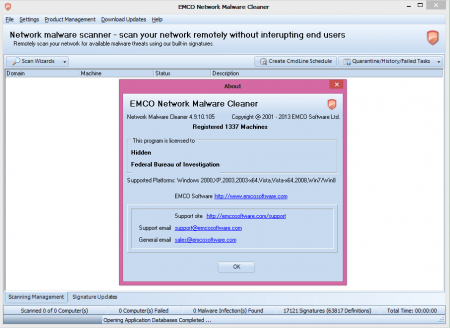 EMCO Network Malware Cleaner v4.9