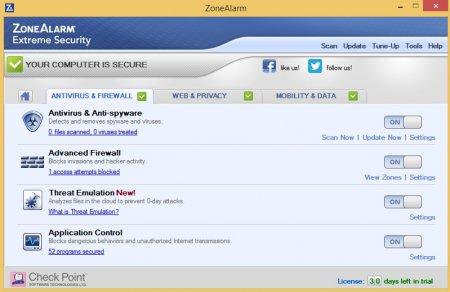 ZoneAlarm Extreme Security 2015