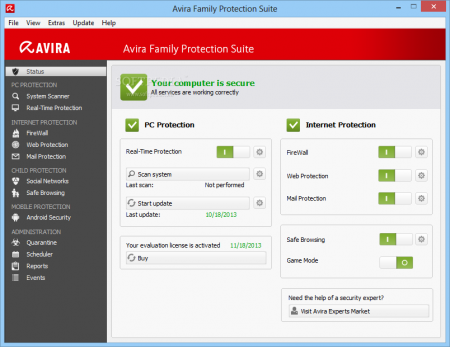 Avira Family Protection Suite 2014 Türkçe