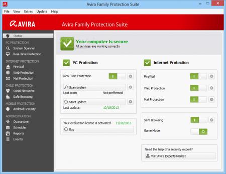 Avira Family Protection Suite 2014 Türkçe