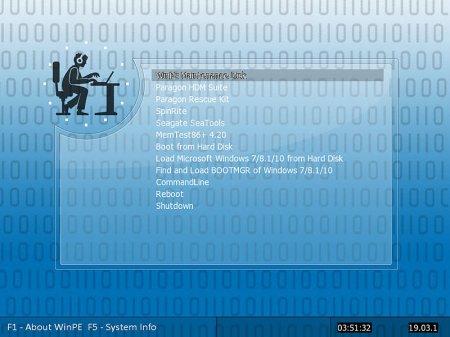 WinPE Maintenance Disk v3 64 Bit Full