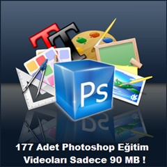 177 Adet Türkçe Photoshop Videolu Ders Anlatımı